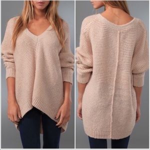 Free People chunky knit vneck sweater, size S